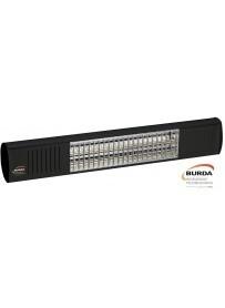 Burda Term2000 COLOR IP67 Low Glare 1,5Kw Zwart RAL9005